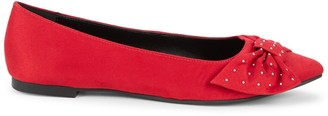 BCBGeneration Mary Studded Bow Ballet Flats