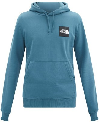 The North Face Logo-patch Cotton-jersey Hooded Sweatshirt - Blue Multi