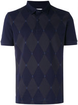 Ballantyne diamond patterned polo shirt - men - Cotton - M