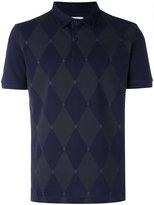 Ballantyne diamond patterned polo shirt