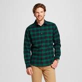 Merona Men's Plaid Crepe Flannel Button Down Shirt Green
