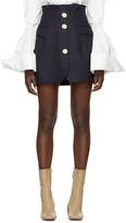 Jacquemus Navy 'La Jupe Sainte' Miniskirt
