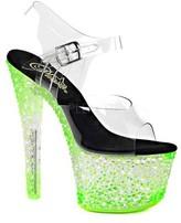 Pleaser USA Women's Crystalize 308PS Platform Ankle-Strap Sandal