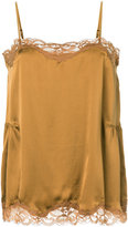 Gold Hawk draped scalloped vest