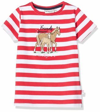Salt&Pepper Salt and Pepper Girls' Streifen Pferde Applikation mit Stickerei und Pailletten T-Shirt
