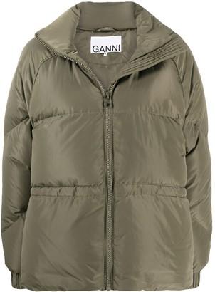 Ganni Oversized Zipped Puffer Jacket
