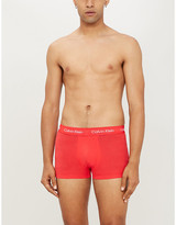 Calvin Klein Pack of three classic-fit stretch-cotton trunks