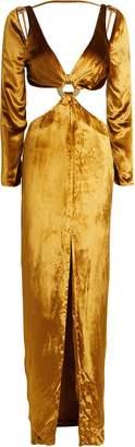 Cult Gaia Priya Velvet Cut-Out Dress
