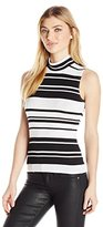GUESS Women's Sleeveless Bre Layering Turtleneck Tee