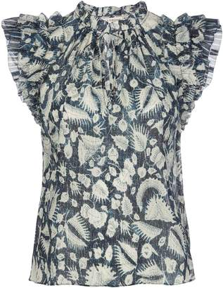 Ulla Johnson Dira ruffled-sleeves blouse