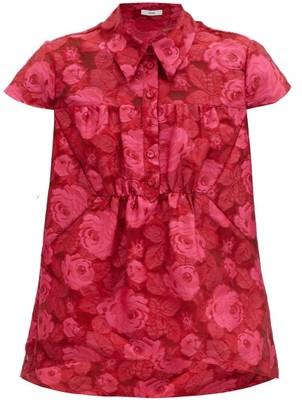 Erdem Cloverlly Floral-jacquard Top - Pink