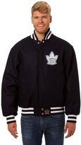 JH Design Toronto Maple Leafs Jacket - Hand Crafted Wool w/ Leather Logos
