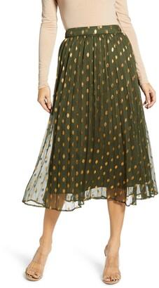 Endless Rose Polka Dot Pleated Skirt