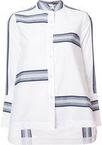 Derek Lam 10 Crosby mandarin neck flared shirt - women - Cotton - 8