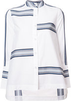 Derek Lam 10 Crosby mandarin neck flared shirt