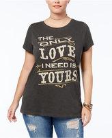 Lucky Brand Trendy Plus Size Cotton Cash Graphic T-Shirt