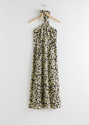 And other stories Floral Halter Midi Dress