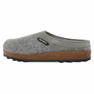 Giesswein Slipper Chamerau Grey 36 - Felt Slippers with Robust Rubber Sole Unisex-House Shoe Shoes for Home & Garden Mules for Ladies & Gentlemen Comfortable Slippers Made of Virgin Wool