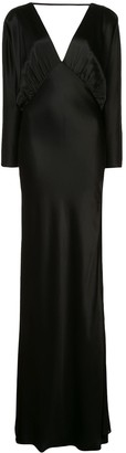 Mason by Michelle Mason Dolman Sleeve Silk Gown