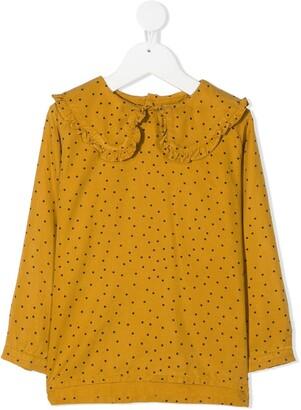 Tiny Cottons Polka Dot Ruffled Top