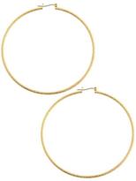 Gold Sandblast Hoops