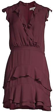 Parker Women's Tangia Silk Ruffle Blouson Dress