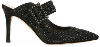 Via Spiga Carisa Crystal-Embellished Satin Mules