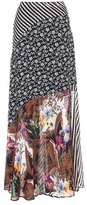 Etro Printed silk skirt