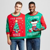 Men's Ugly Holiday Two Person Sweater Red L