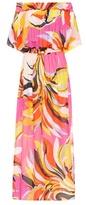 Emilio Pucci Beach Off-the-shoulder printed maxi dress