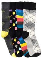 Happy Socks Assorted Printed Crew Socks Gift Box - Pack of 4 Pairs
