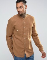 Asos Regular Fit Shirt With Two Pockets In Tan