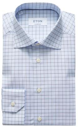 Eton Check Contemporary-Fit Cotton Dress Shirt