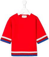 Gucci Kids - Sylvie Web trim top - kids - Cotton/Spandex/Elastane/Viscose/Metallic Fibre - 4 yrs