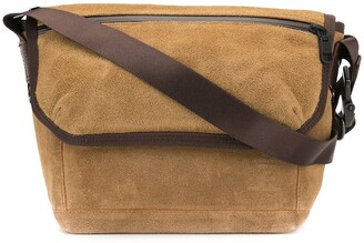 Panelled Messenger Bag
