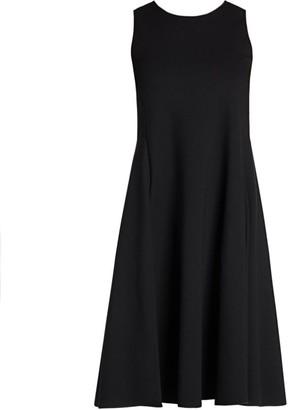 Giorgio Armani Sleeveless Jersey Dress With Full Skirt