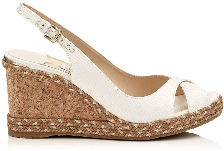 Jimmy Choo Amely 80 Slingback Wedge Sandals