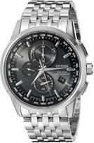 Citizen Men's World Chronograph A-T AT8110-53E Wrist Watches, Black Dial