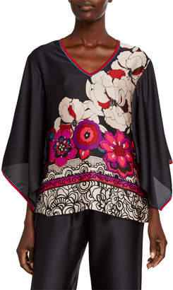 Trina Turk Agate Kimono-Sleeve Top