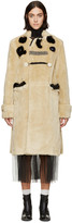 Toga Beige Patchwork Bear Coat