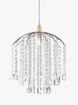 Thumbnail for your product : John Lewis & Partners Crystal Droplets Easy-to-Fit Ceiling Shade, Chrome