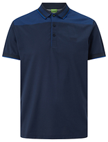 Hugo Boss Boss Green Pavel Cotton Polo Shirt, Navy