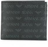 Armani Jeans monogrammed portfolio wallet - men - Polyester/PVC - One Size