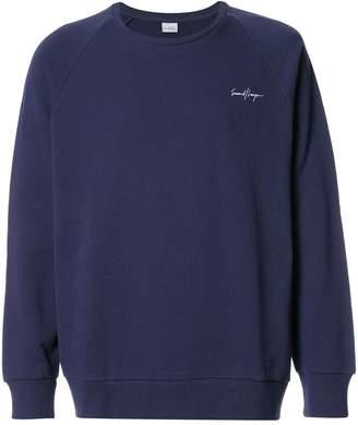 Second/Layer embroidered raglan sweatshirt