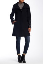 Soia & Kyo Leather Cuff Textured Wool Blend Coat