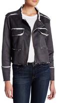 Anama Frayed Edge Draped Lapel Jacket