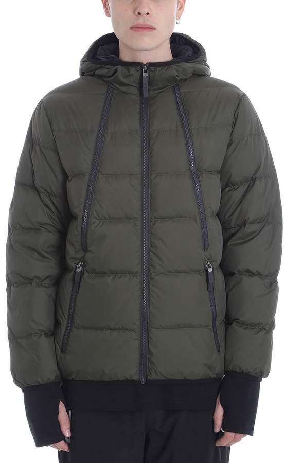 BLACKBARRETT by NEIL BARRETT Green Nylon Multi Zip Down Jacket
