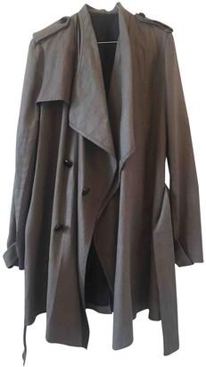 Joseph Grey Linen Trench Coat for Women