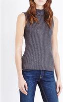 Rag & Bone Ribbed sleeveless stretch-cotton top
