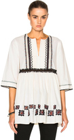 Suno Cotton Leaf Tunic in White.
